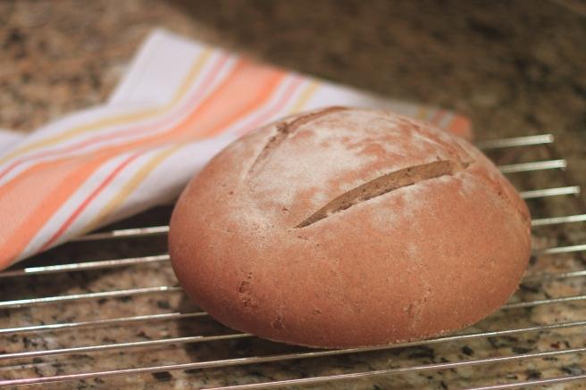 Polish rye bread cooling down