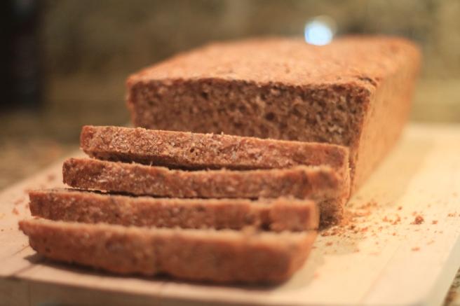 Whole wheat sourdough bread based on a basic recipe